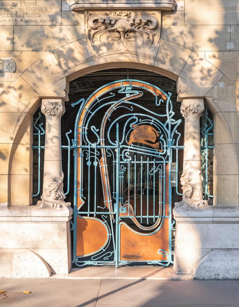 Art Nouveau building in Paris.