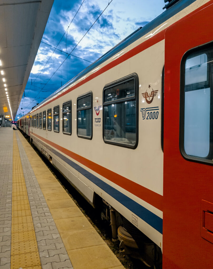 Sofia-Istanbul Express at a stop.