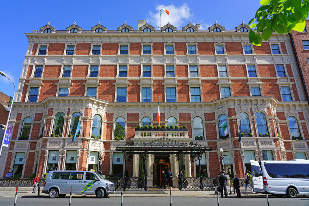 View of the Shelbourne Hotel in Dublin.