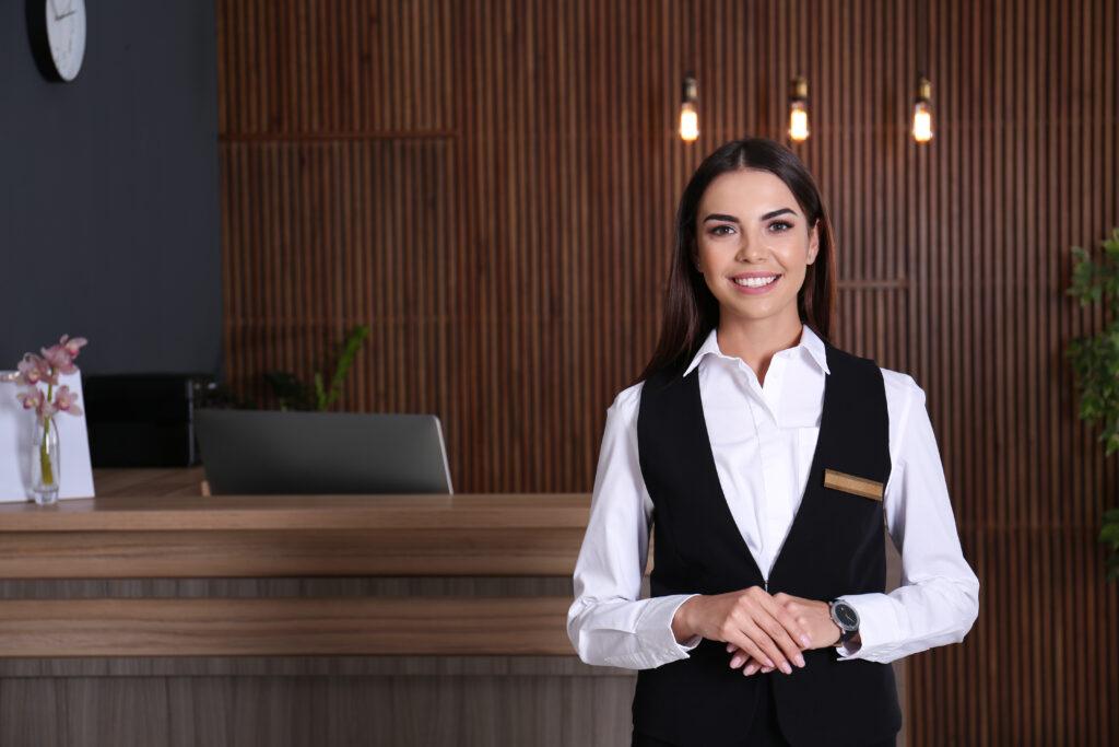 Woman concierge.