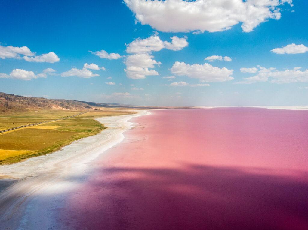 Lake Tuz, a salt lake in Turkey.