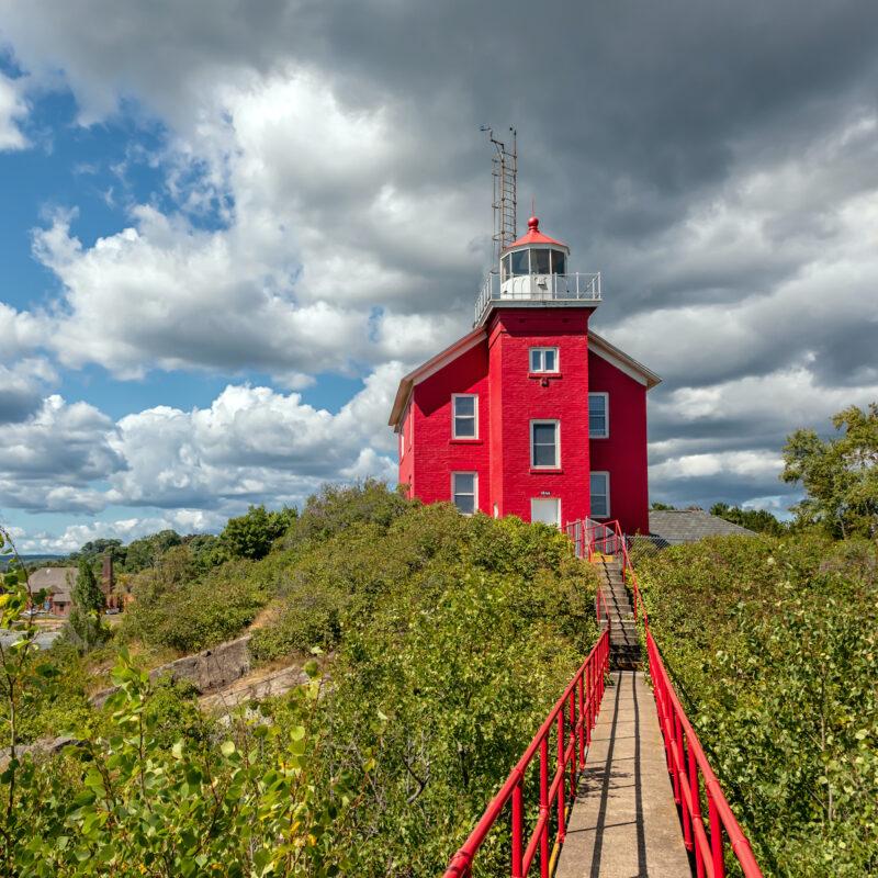 Lighthouse near Marquette, Michigan.