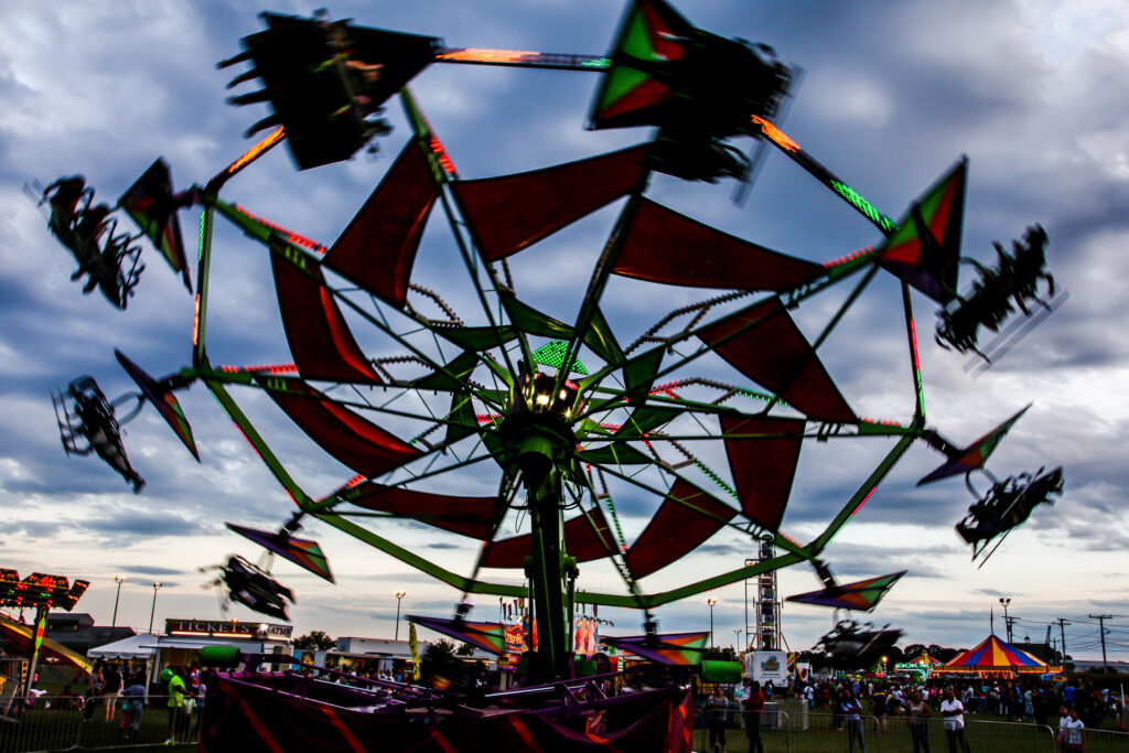 Rides at the Norwalk Oyster Festival.