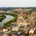 A bird's-eye view of Morgantown, WV.