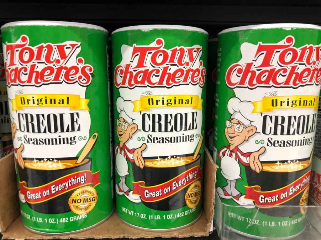 Tony Chachere's Seasoning.