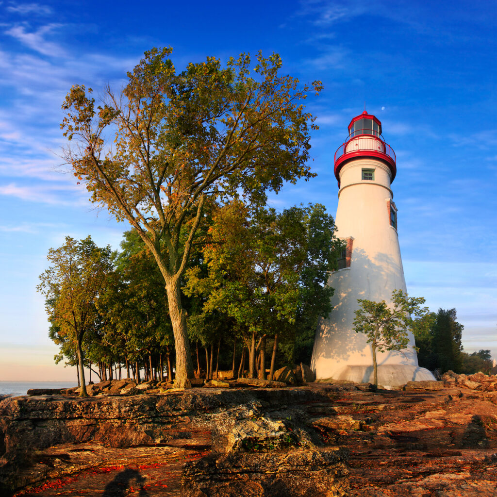 Lighthouse in Marblehead, Ohio.