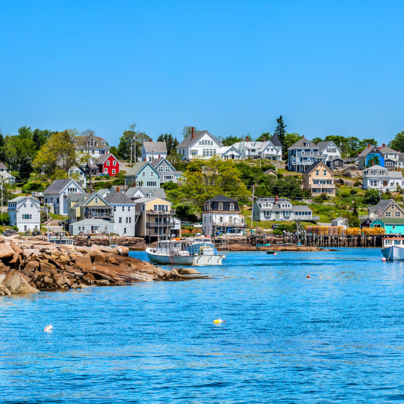 Harbor in Stonington, Maine.