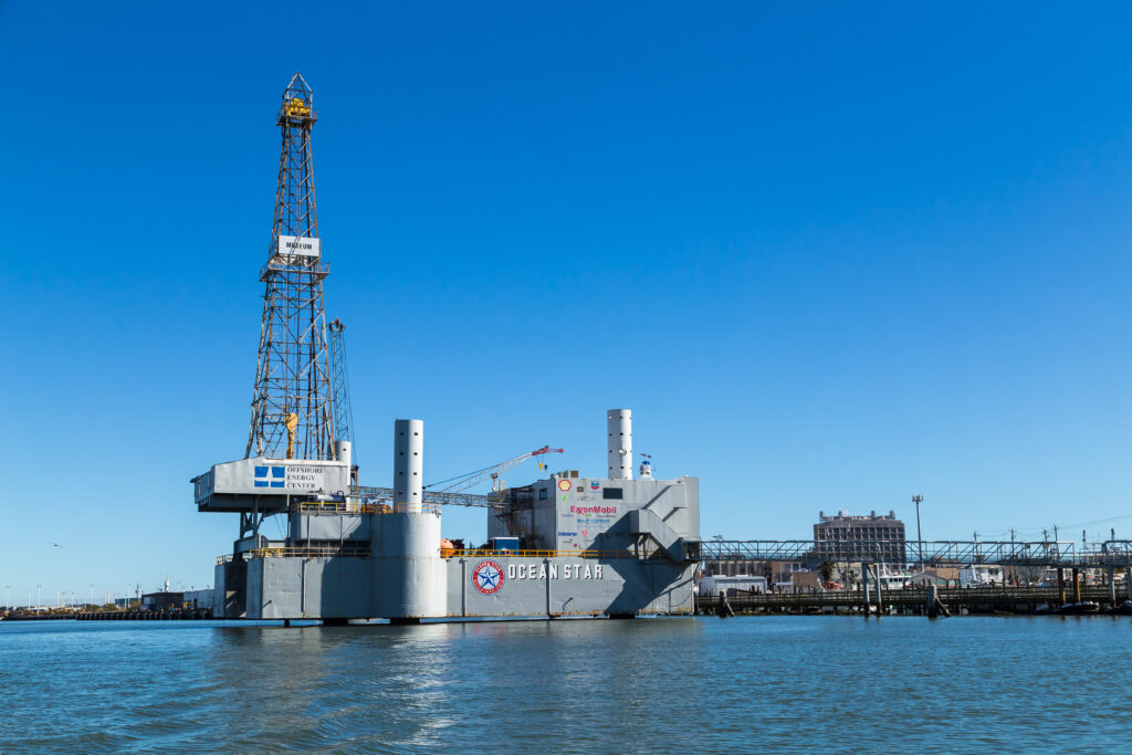 Ocean Star Offshore Drilling Rig and Museum in Galveston, Texas.