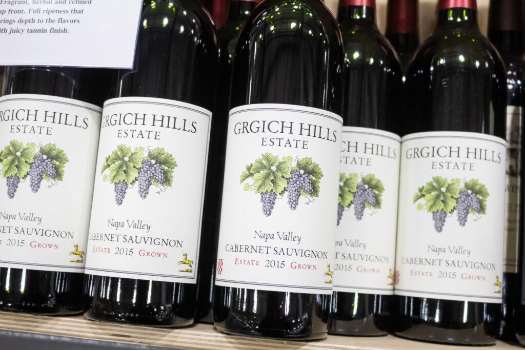 Grgich Hills Estate Cabernet Sauvignon.