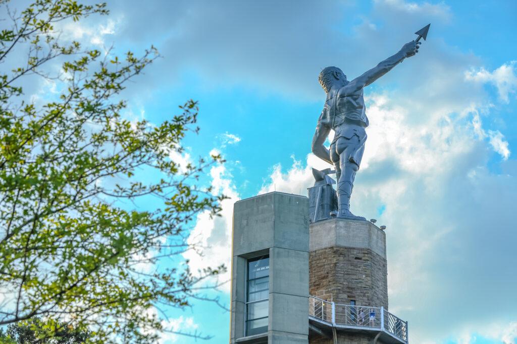 Statue at Vulcan Park.
