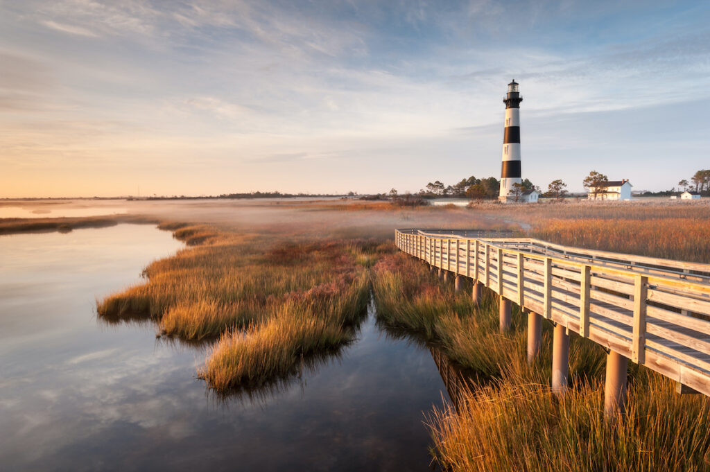 A lighthouse on the Outer Banks.
