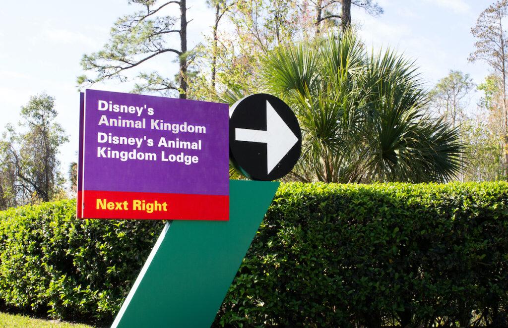 Sign for Disney's Animal Kingdom.