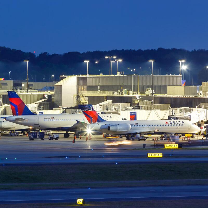 Delta planes in Atlanta, Georgia.