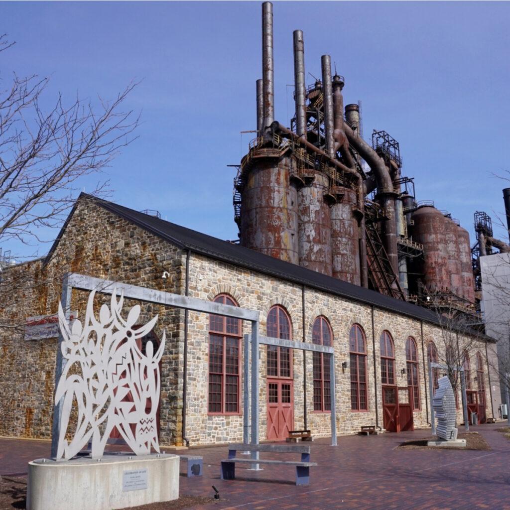 Outside of SteelStacks, Bethlehem, Pennsylvania
