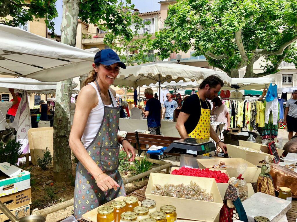 The market in Cassis, France.