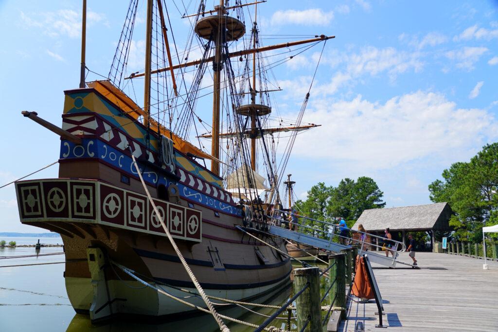 Jamestown Settlement Ships.