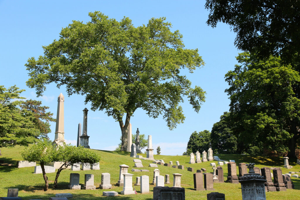 Allegheny Cemetery in Pittsburgh, Pennsylvania, USA.