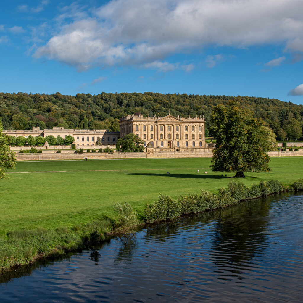 Chatsworth House in the Peak District, England.