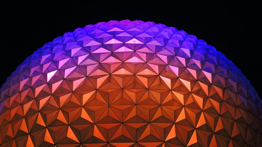 Colorful dome in Disney World.