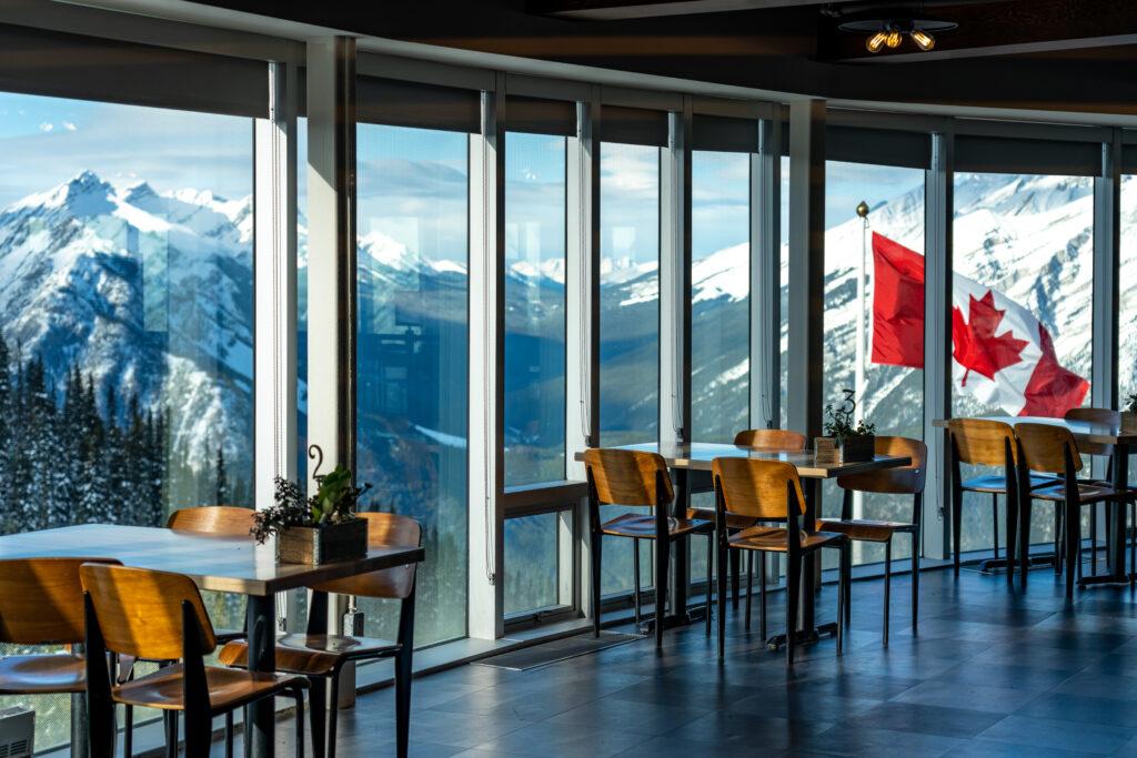 Banff Gondola station Sky Bistro.