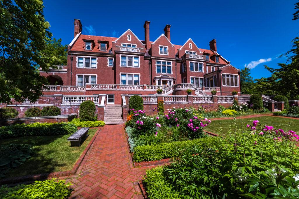 The famous Glensheen Mansion in summer.