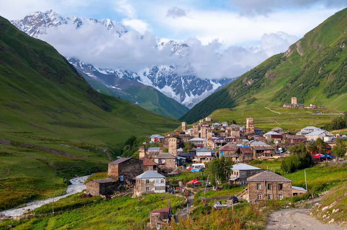 Svaneti region in Georgia.