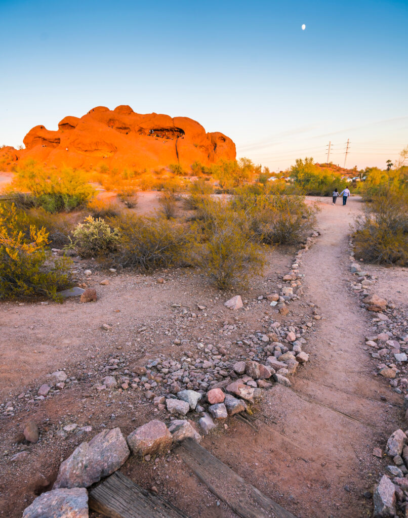 Hole-In-The-Rock Trail In Papago Park.