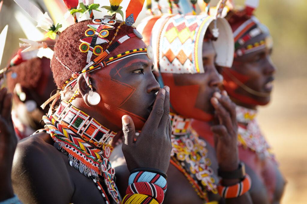 Samburu warriors in Kenya.