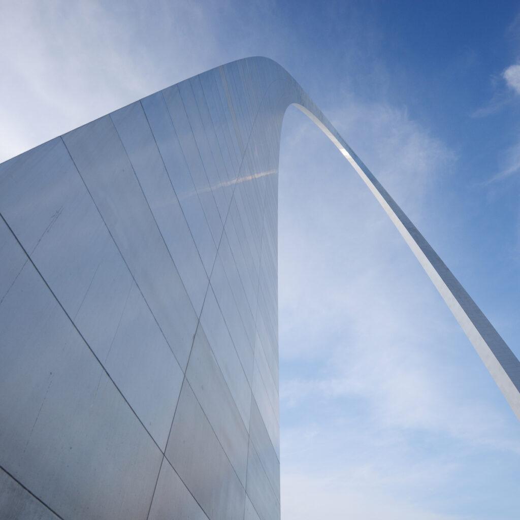 Gateway arch in Saint Louis.