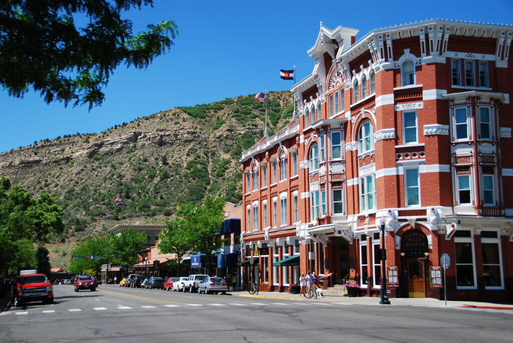 Strater Hotel in downtown, Durango.
