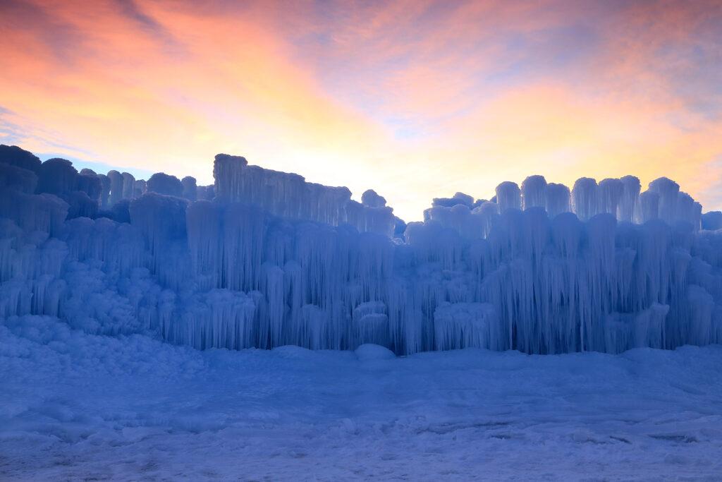 Ice Castles in Utah.