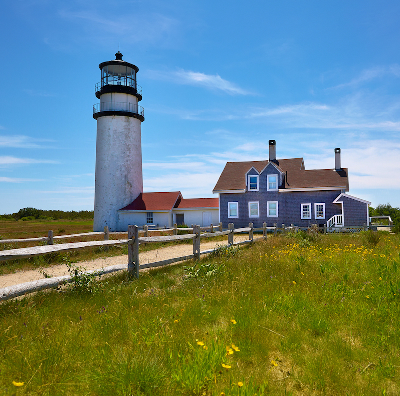 Lighthouse in Truro, MA.