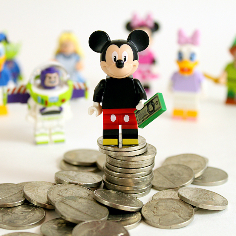 Disney characters on coins.