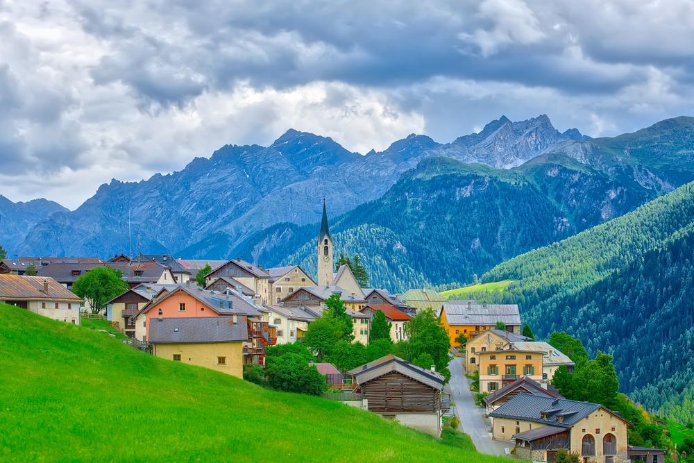 Village of Guarda, Switzerland
