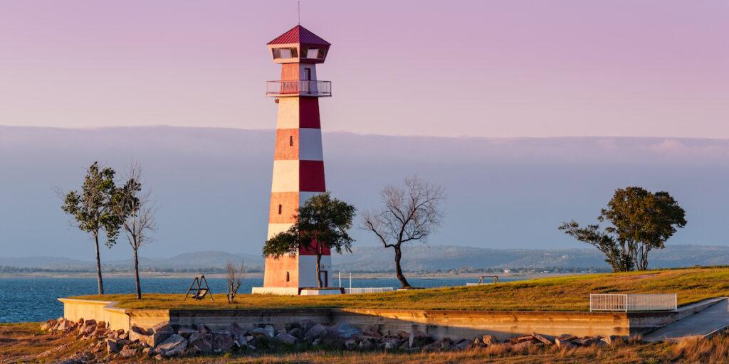Lake Buchanan Lighthouse in Texas.