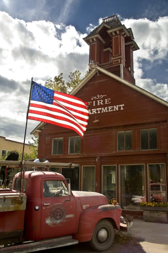 Historic fire department in Ridgway, Colorado.