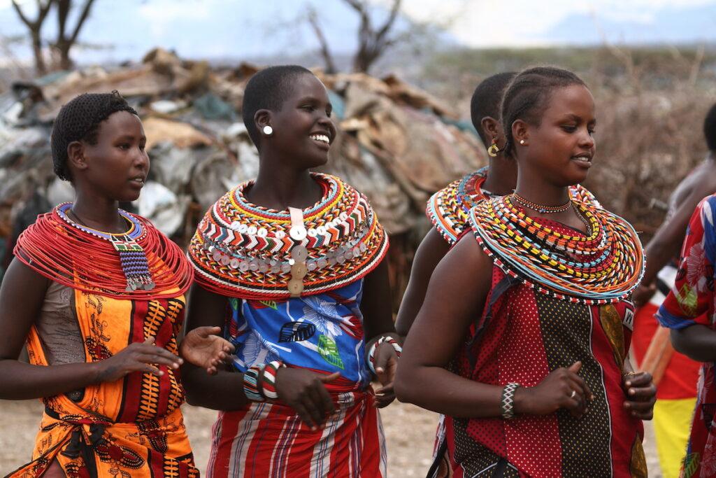 Samburu women smiling.