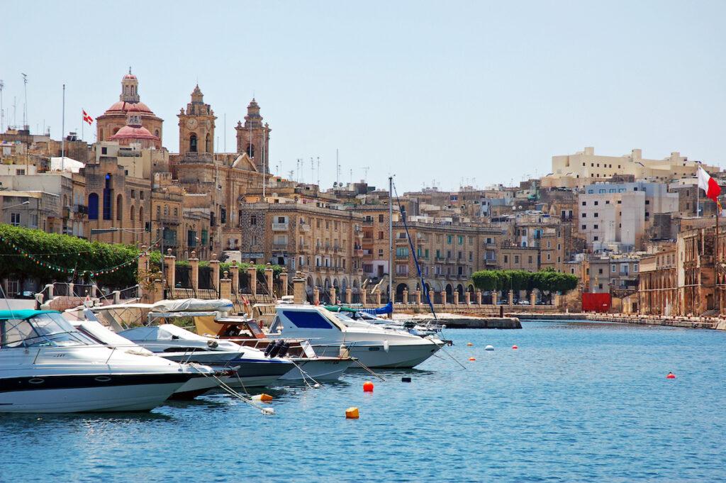 Boats in Gozo, Malta.