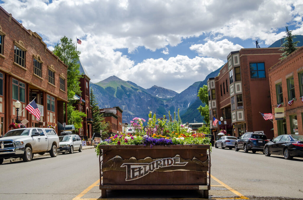 A street view in Telluride.