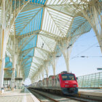 Rail station in Lisbon, Portugal.