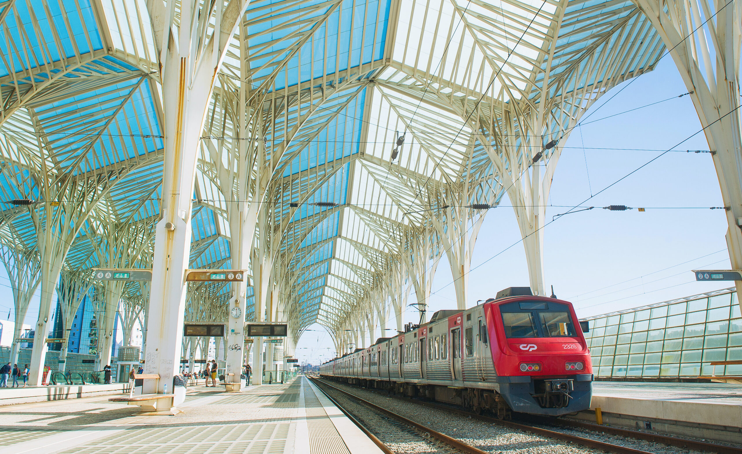 Train station in Portugal.