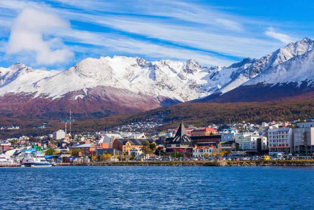 Coastline of Ushuaia, Argentina.