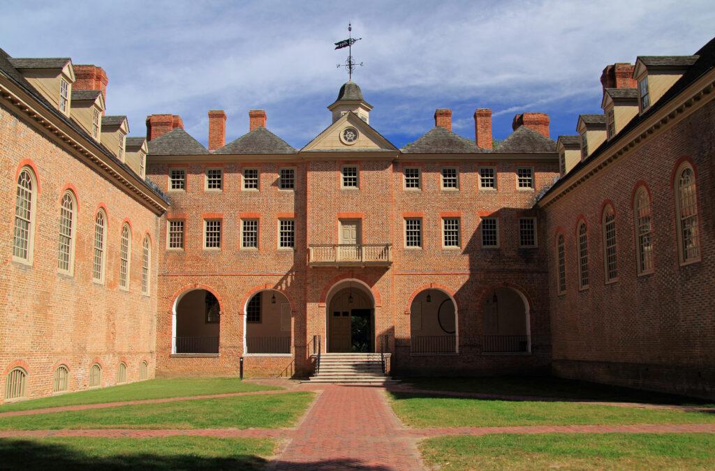 William and Mary's college campus in Williamsburg, VA.