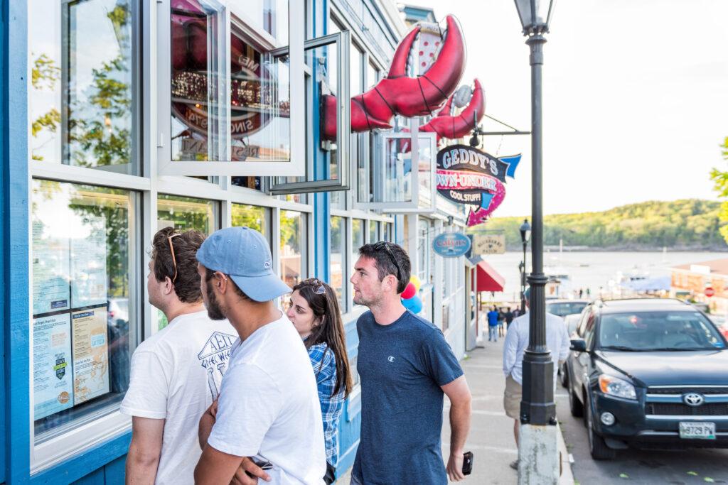 Geddy's on Bar Harbor's Main Street.