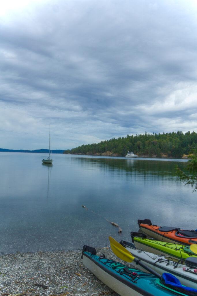 Kayaking on Salt Spring Island.