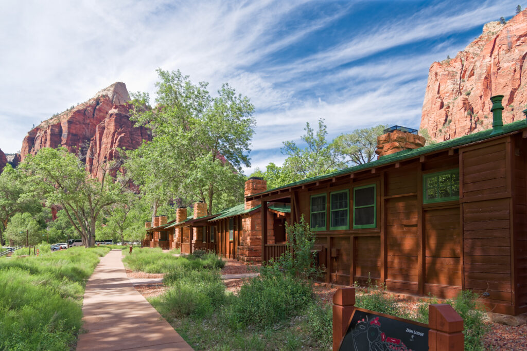 Zion Lodge in Zion National Park.