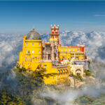Pena Palace in the clouds, Sintra.