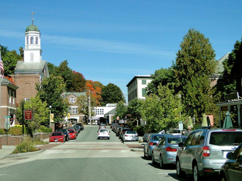 town, street, main street