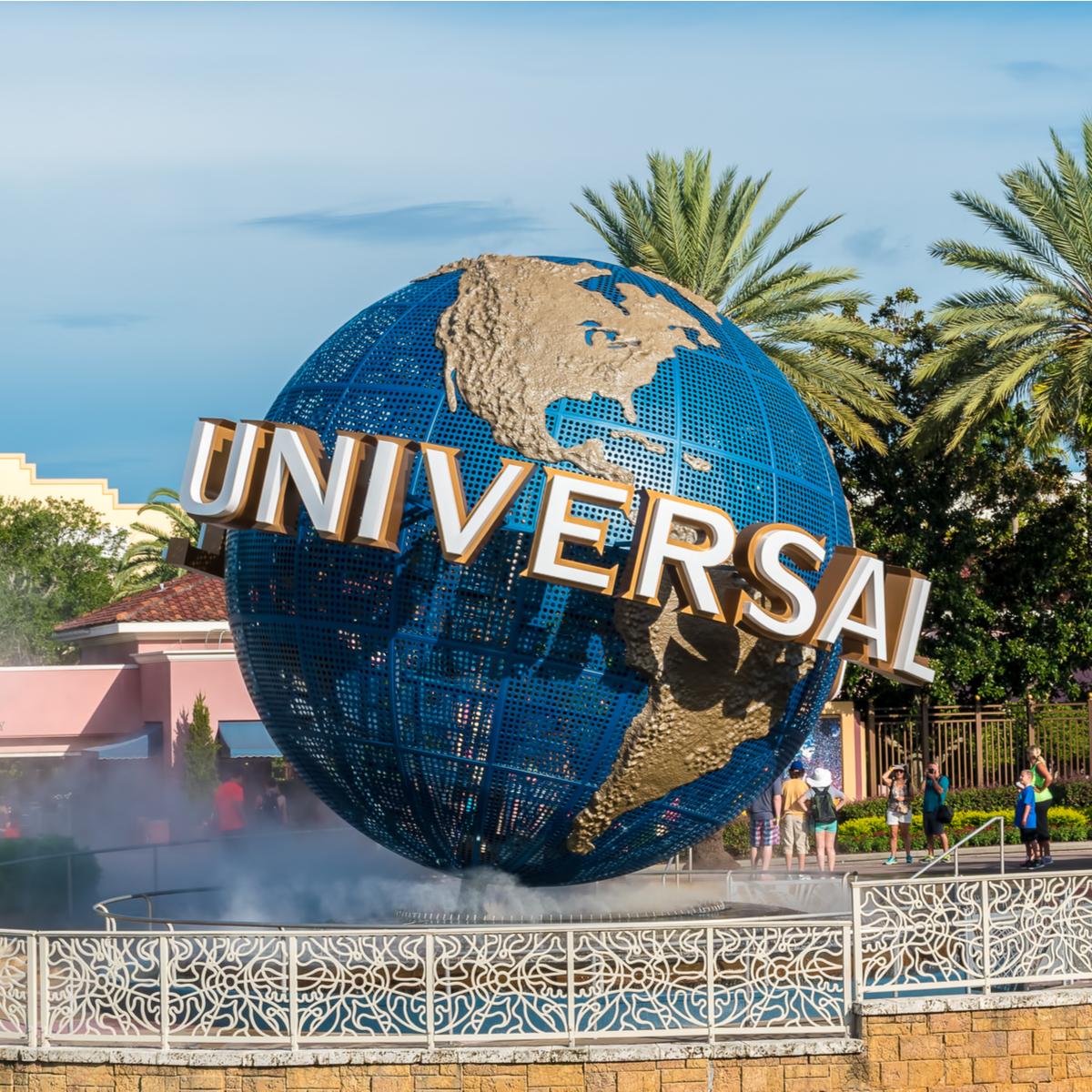 Universal Studios Orlando globe.