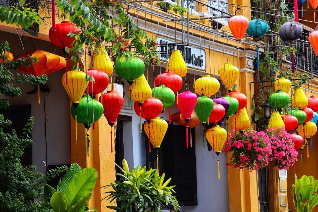 Colorful lanterns in Hội An, Vietnam.